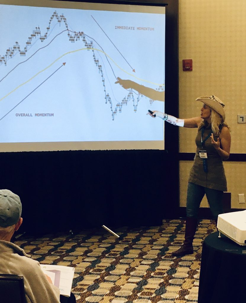 Marina The Trader Chick teaching day trading